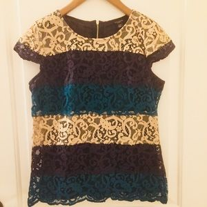 Lace top by Ann Taylor
